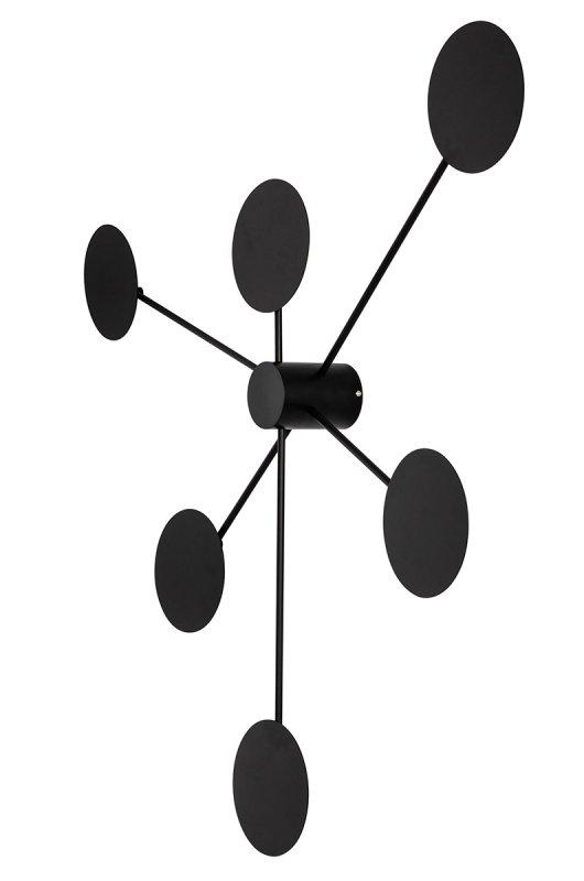 Plafon, Kinkiet SHADOW 6 czarny - metal