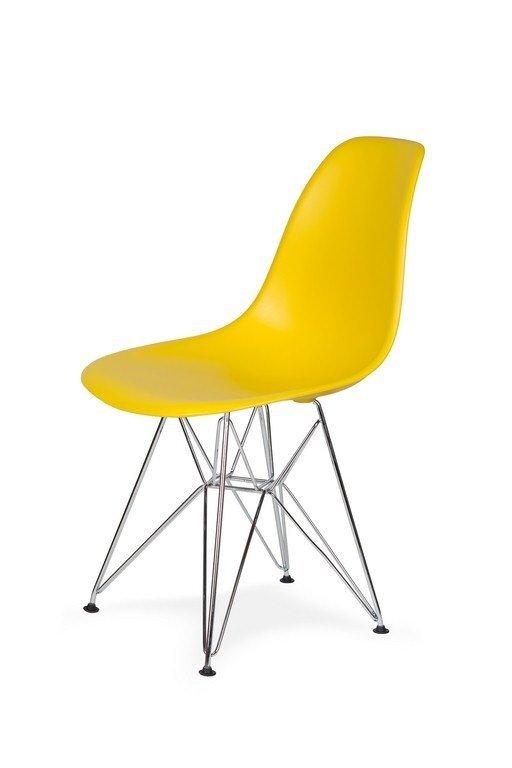 Krzesło DSR SILVER słoneczny żółty.09 - podstawa metalowa chromowana