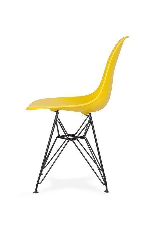 Krzesło DSR BLACK słoneczny żółty.09 - podstawa metalowa czarna