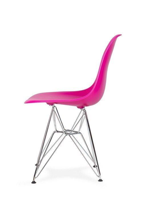 Krzesło DSR SILVER wściekły róż.22 - podstawa metalowa chromowana