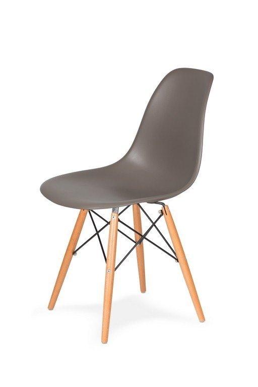 Krzesło DSW WOOD popielaty szary.17 podstawa drewniana bukowa