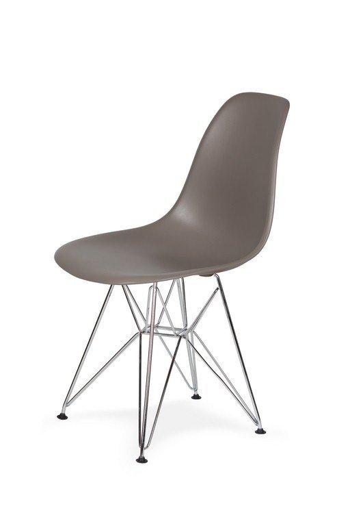 Krzesło DSR SILVER popielaty szary.17 - podstawa metalowa chromowana