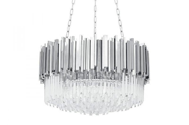 Lampa wisząca IMPERIAL SILVER 60 - stal, kryształ