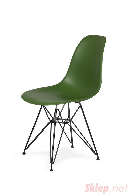 Krzesło DSR BLACK butelkowa zieleń.27 - podstawa metalowa czarna