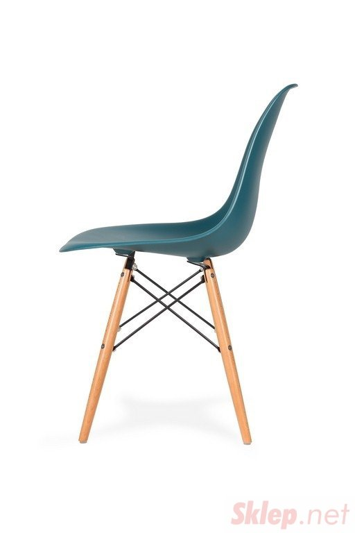 Krzesło DSW WOOD marynarski niebieski .23 - podstawa drewniana bukowa