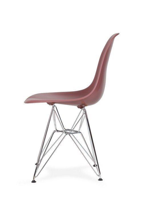 Krzesło DSR SILVER koktajl malinowy.38 - podstawa metalowa chromowana