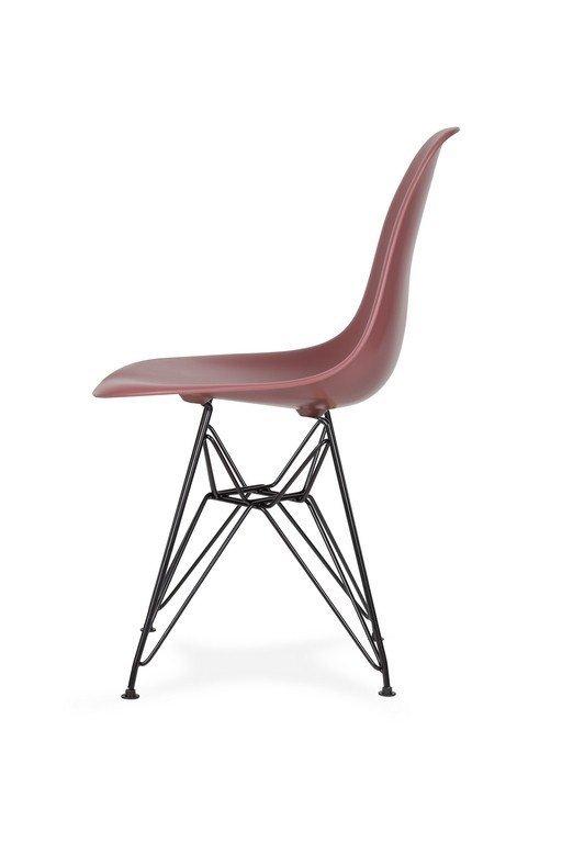 Krzesło DSR BLACK koktajl malinowy.38 - podstawa metalowa czarna