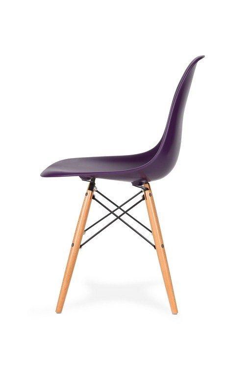 Krzesło DSW WOOD fioletowa purpura.39 - podstawa drewniana bukowa