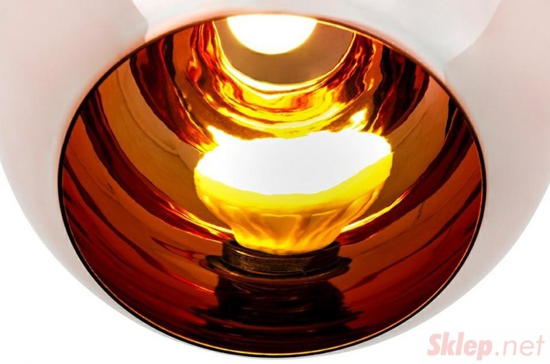 Lampa wisząca BOLLA 45 miedziana - szkło metalizowane