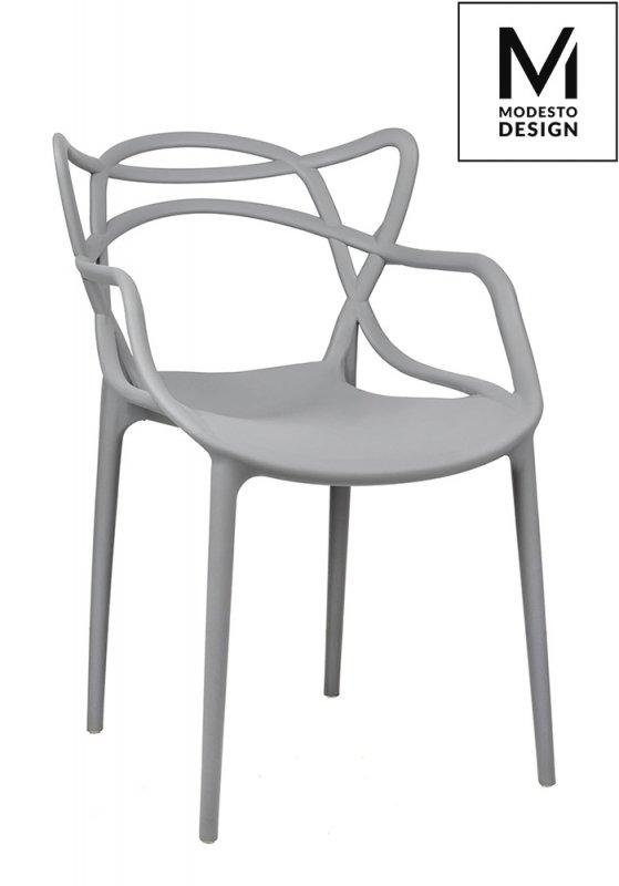 MODESTO krzesło HILO szare - polipropylen