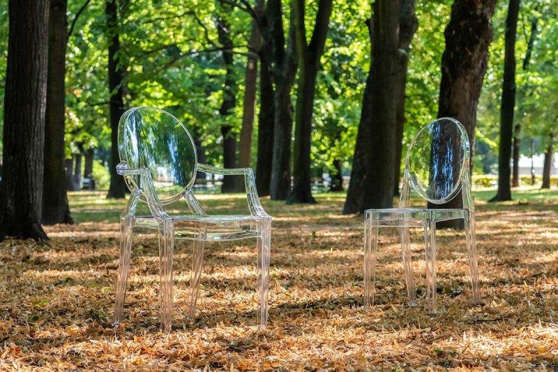 Krzesło LOUIS transparentne - poliwęglan
