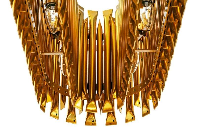 Lampa wisząca GALLIANO LONG ciemne złoto - aluminium, stal węglowa
