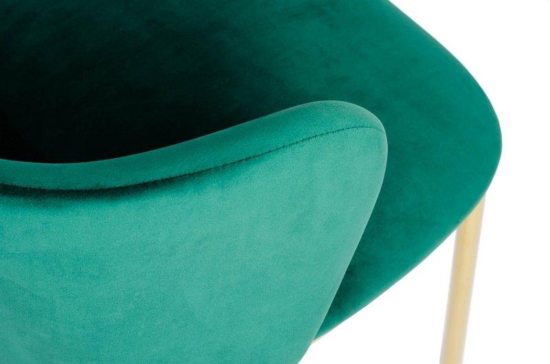 Krzesło MANTIS ciemny zielony - welur, podstawa złota