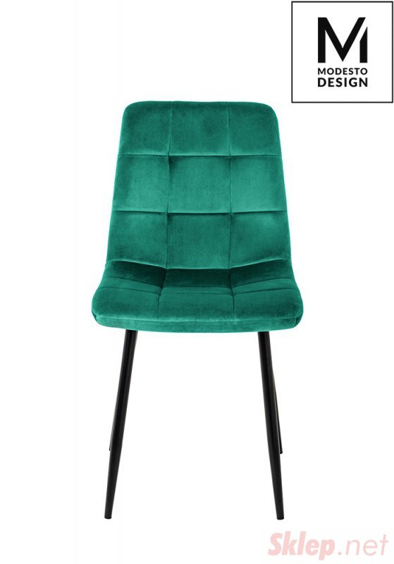 MODESTO krzesło CARLO zielone - welur, metal
