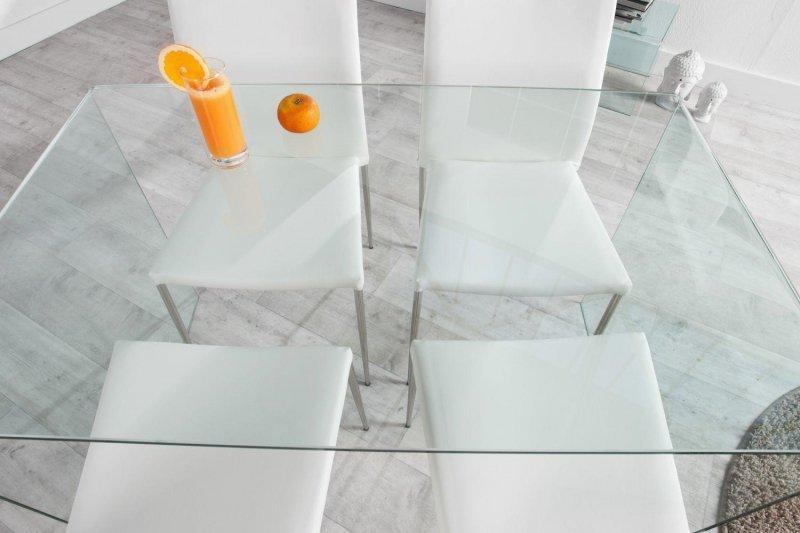 INVICTA biurko szklane FANTOME 120 transparentne - szkło 20 mm.