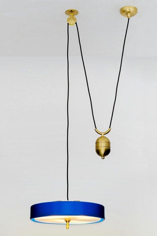 Lampa wisząca ARTE MOVE niebieska - aluminium, metal