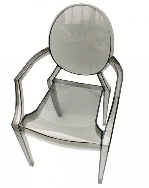 Krzesło LOUIS dymione - poliwęglan