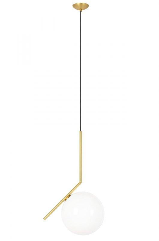 Lampa wisząca HALM 20 - mosiądz, szkło