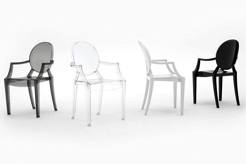 Krzesło LOUIS czarne - poliwęglan