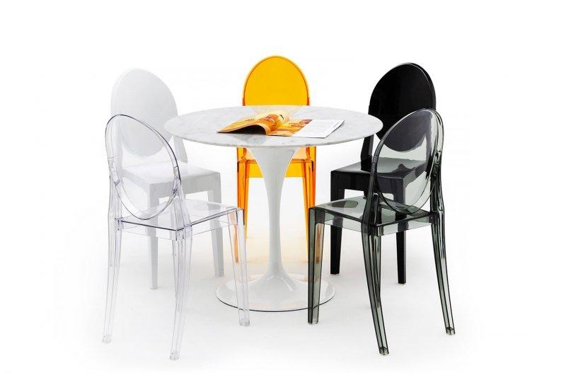 Krzesło VICTORIA czarne - poliwęglan
