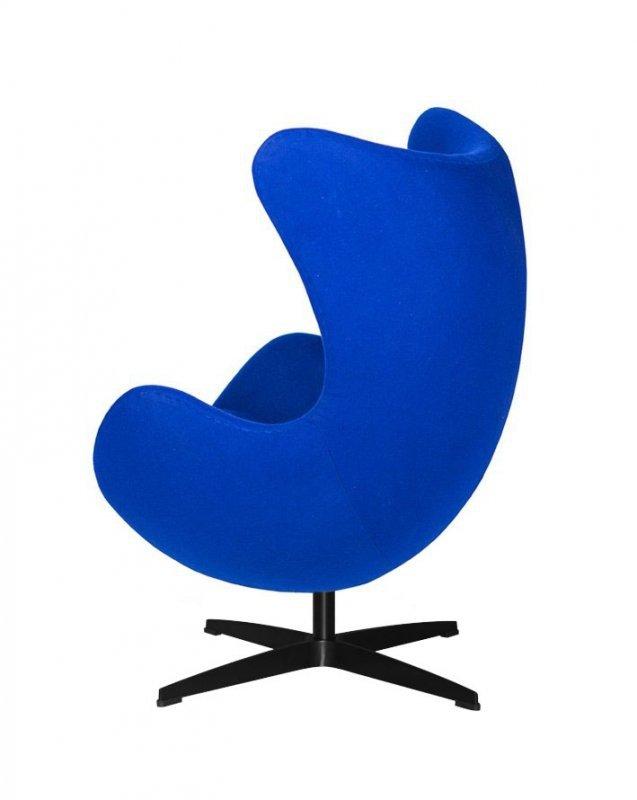 Fotel EGG CLASSIC BLACK atramentowy niebieski.29 - wełna, podstawa czarna