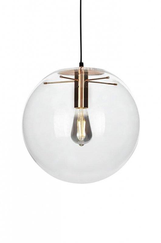 Lampa wisząca SANDRA 30 miedziana - szkło, metal