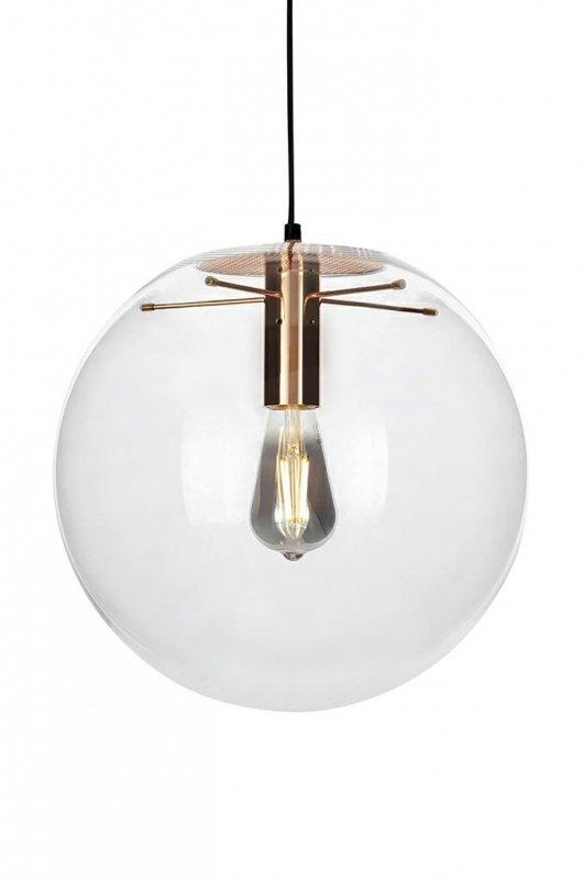 Lampa wisząca SANDRA 35 miedziana - szkło, metal