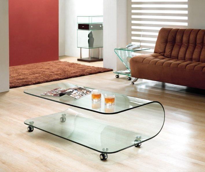 Stolik szklany COLLINE transparentny - szkło