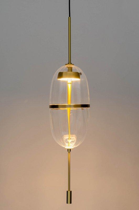 Lampa wisząca CHAPLIN 200 mosiądz - LED, szkło