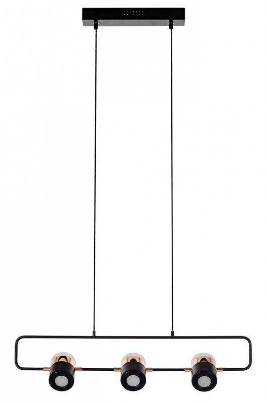 Lampa wisząca BLINK 3 czarna - LED, metal