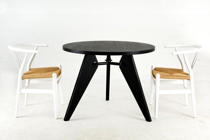 Stół JOSEF 95 czarny - drewno, metal