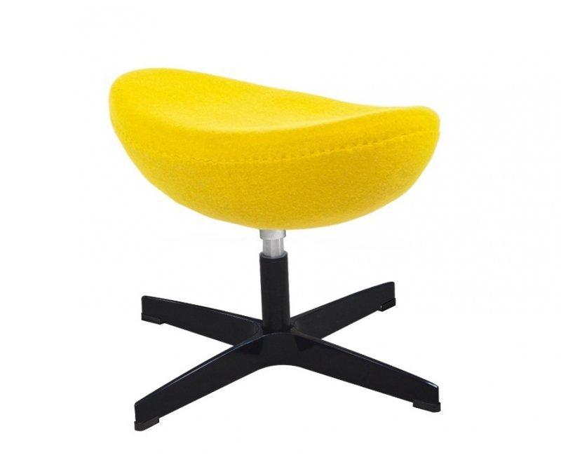 Fotel EGG CLASSIC BLACK z podnóżkiem - musztardowy.21, podstawa czarna