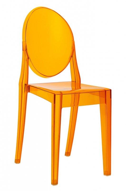 Krzesło VICTORIA amber - poliwęglan