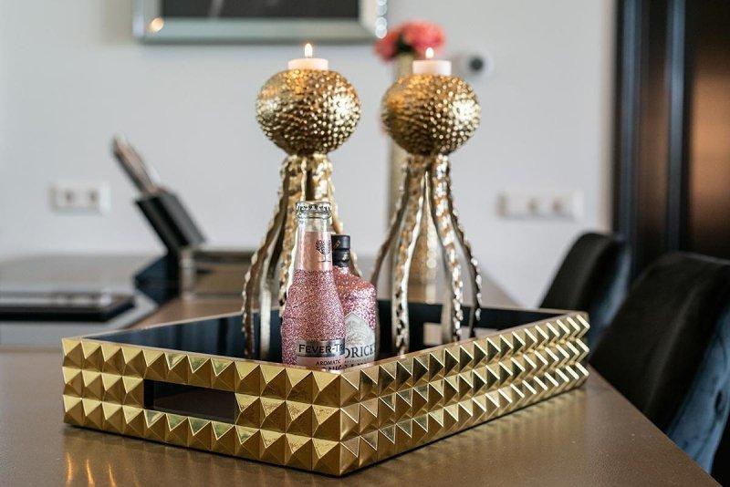 RICHMOND świecznik DEX złoty