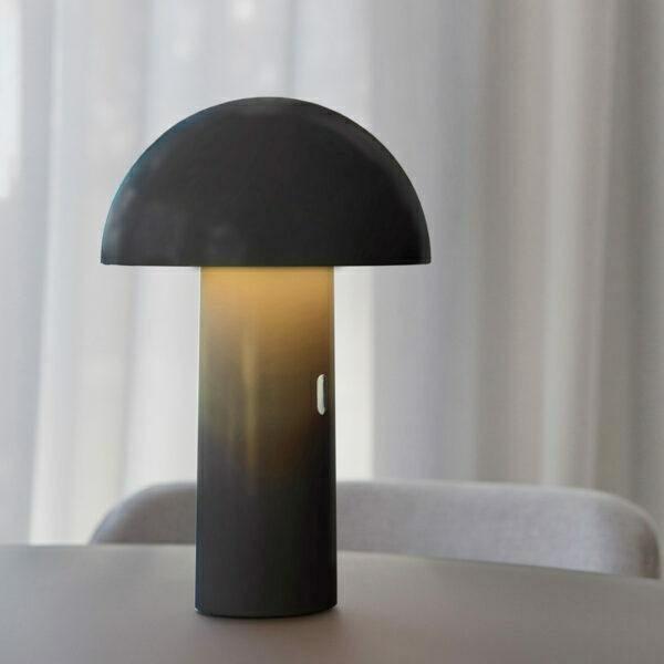 NEW GARDEN lampa biurkowa ENOKI NEGRO INDOOR & OUTDOOR czarna - LED, wbudowana bateria