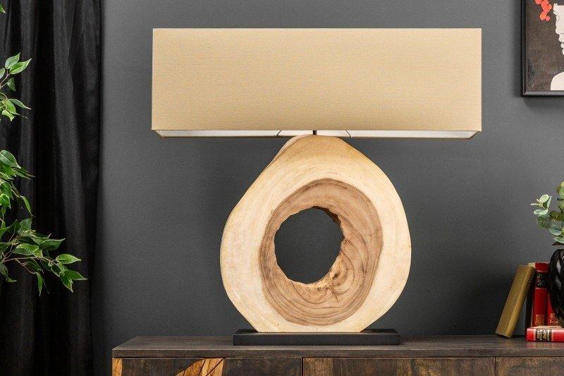 INVICTA lampa biurkowa ORGANIC ARTWORK80 - orzech włoski