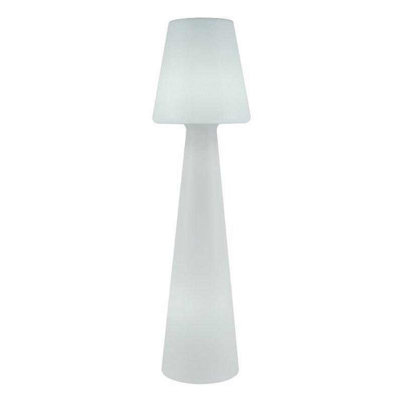 NEW GARDEN lampa podłogowa LOLA 110 biała - LED, przewód