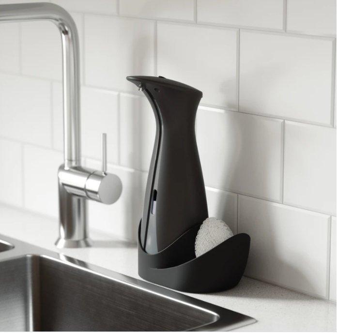 UMBRA dozownik do mydła OTTO CADDY z pojemnikiem na gąbke - czarny