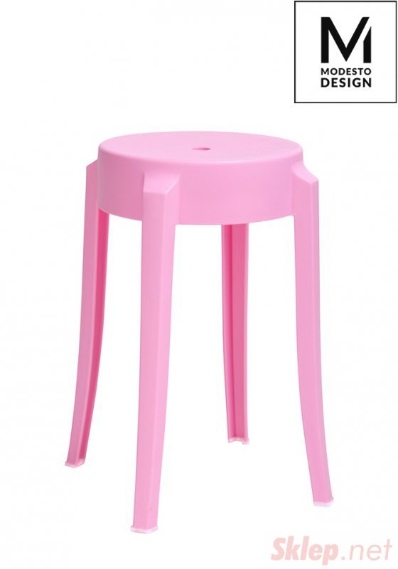 MODESTO stołek CALMAR 46 różowy - polipropylen