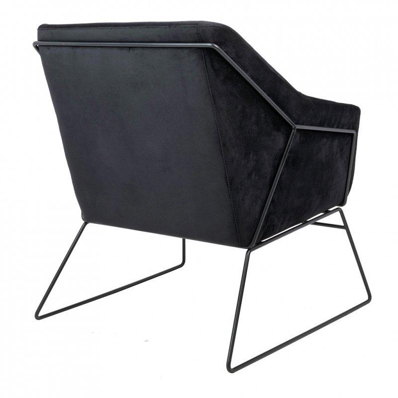 Fotel EMMA VELVET czarny welur - podstawa czarna
