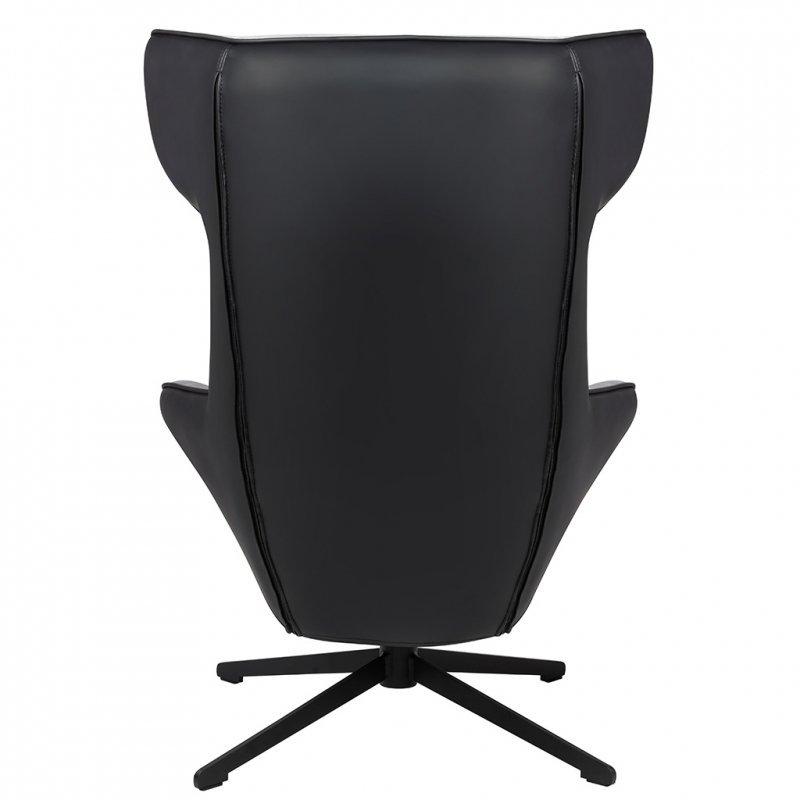 Fotel obrotowy VITA VELVET ciemny szary welur,  ekoskóra czarna