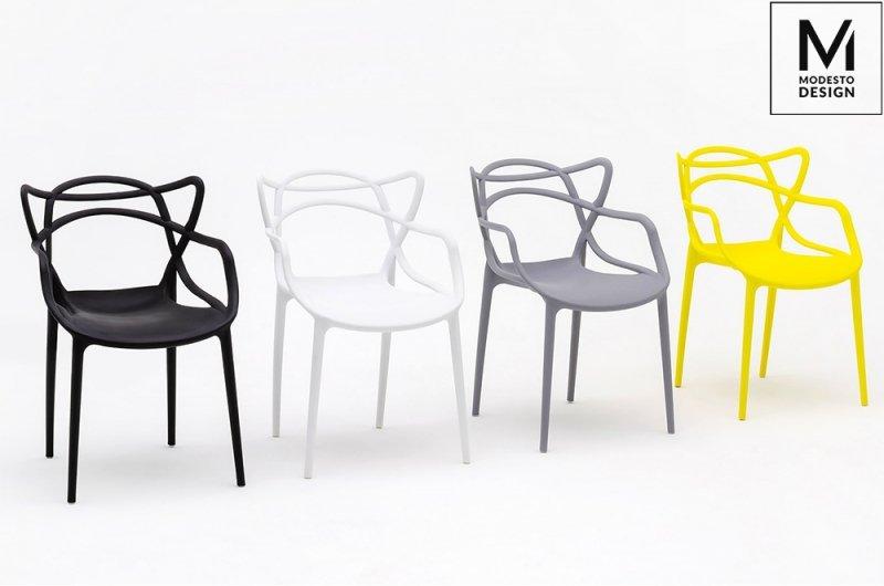 MODESTO krzesło HILO białe - polipropylen