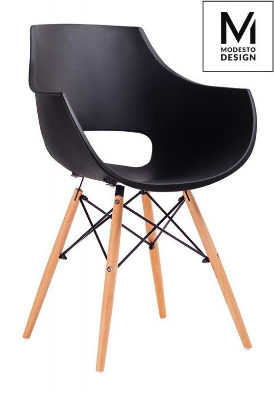 MODESTO fotel FORO czarny - podstawa bukowa