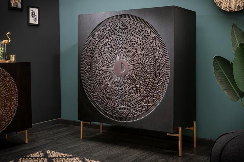 INVICTA komoda MANDALA 100cm Mango - drewno naturalne, metal