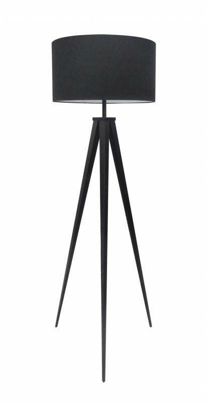 INVICTA Lampa podłogowa BROOKLYN - czarna, nogi czarne