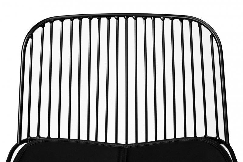 Hoker MILES czarny 66 cm - metal, ekoskóra