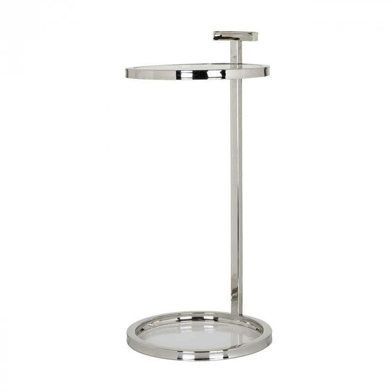RICHMOND stolik GORDON srebrny - stal nierdzewna, szkło