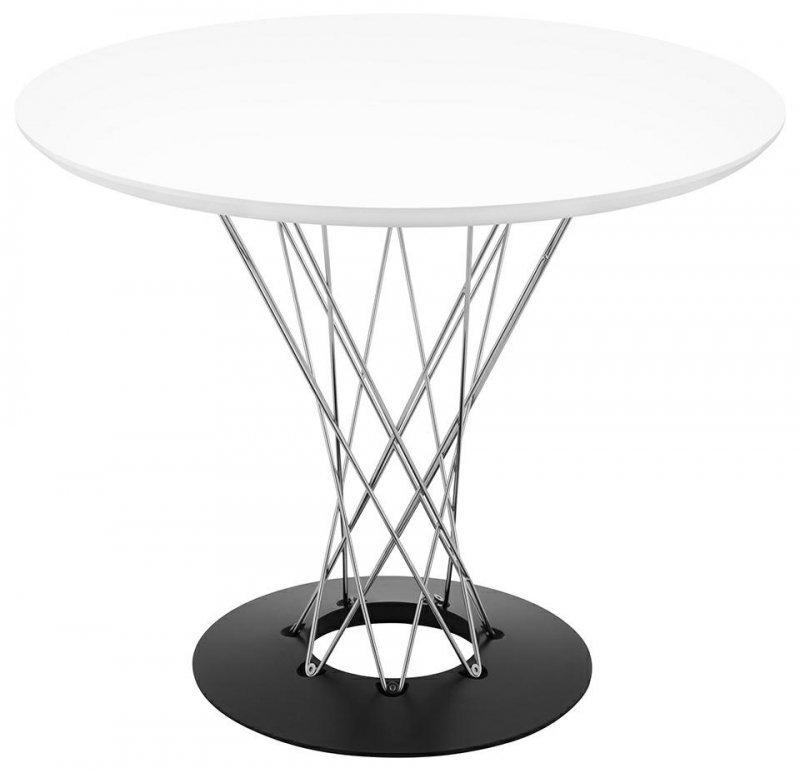 Stół TWIST 100 biały - MDF, chrom