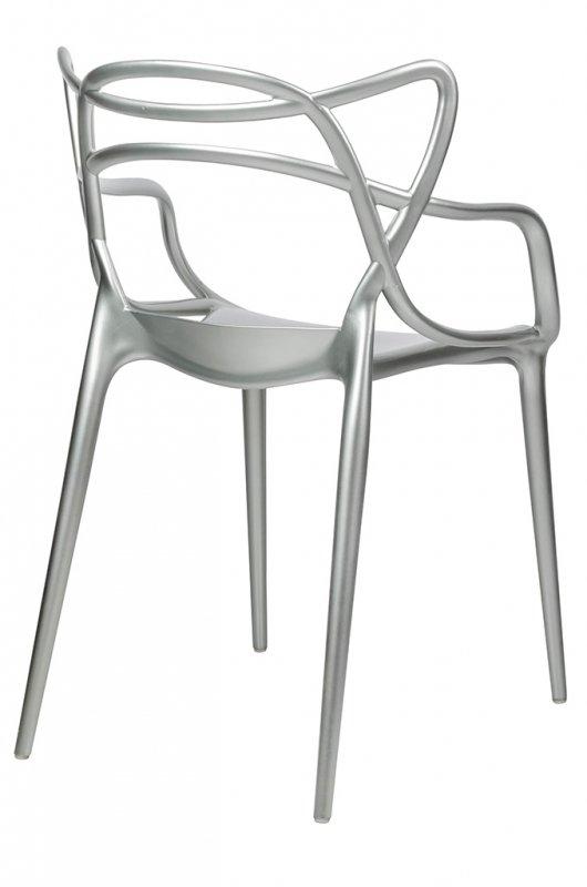 Krzesło LUXO srebrne - ABS