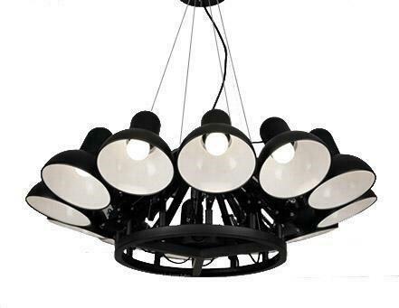 Lampa wisząca RAGNO 12 czarna - aluminium